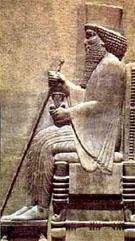 Relief van koning Darius I.