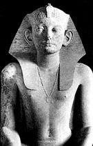 Beeld van farao Amenemhat III.