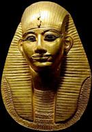 Gouden dodenmasker van Pharaoh Amenemope.