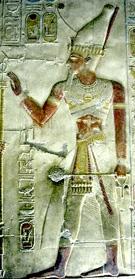 Relief van Pharaoh Seti I.