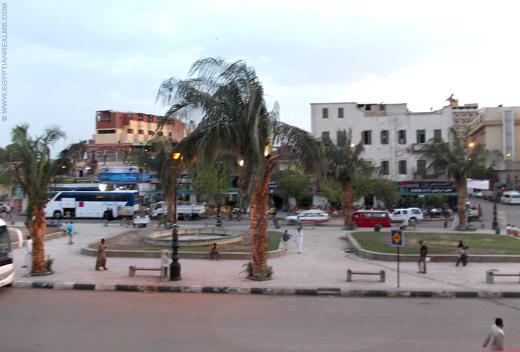 Plein in Aswan, Egypte.