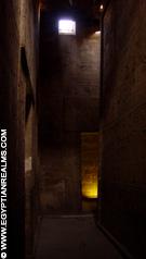In de Tempel van Edfu.