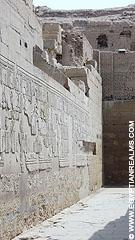 Muren van de Kom-Ombo Tempel.