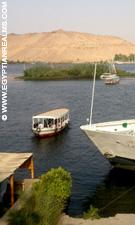 De Nijl bij Aswan.