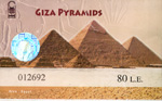 Ticket Piramides van Giza.