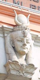 Detail van het museum gebouw.