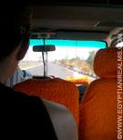 In de microbus in Egypte.
