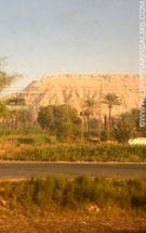 Vanuit de trein naar Aswan.