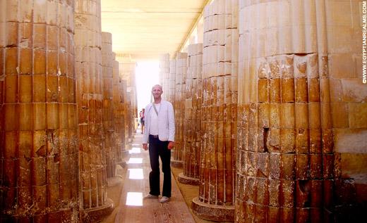 In de Tempel van Sakkara.