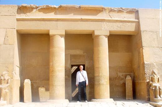 Tempel op het terrein van Giza.