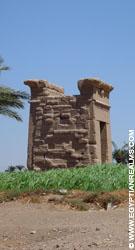 In de omgeving van de Dendera Tempel.