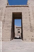 Tempel van Habu in Luxor, Egypte.
