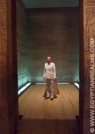 In het heiligdom van de Philae Tempel.