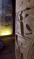 Pilaar in de Abydos Tempel.