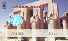 Ticket Ramesseum Tempel Egypte.