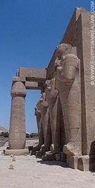 Ramesseum op de westbank van Luxor.