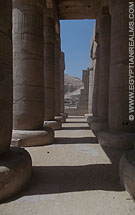 Pilaren in de Ramesseum tempel.