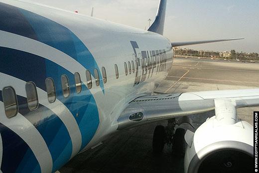 Vliegtuig van EgyptAir, Egypte.