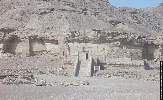 Tempel van Nekhbet bij El-Kab.