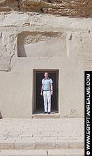 In de Tempel van Nekhebet bij Al-Kab.