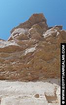 Rotsen boven de Tempel van Nekhebet.
