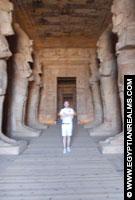 In de Tempel van Abu Simbel.