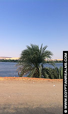 Langs de Nijl in Aswan.