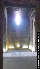 In de tempel van Hathor te Dendera.