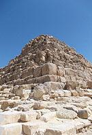 Koningin piramide te Gizeh.