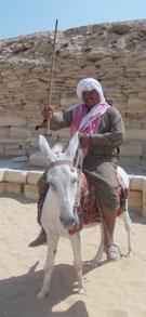Een Egyptenaar bij Saqqara.