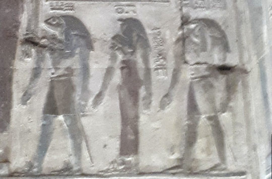 Relief of Naunet and Nunet at Karnak