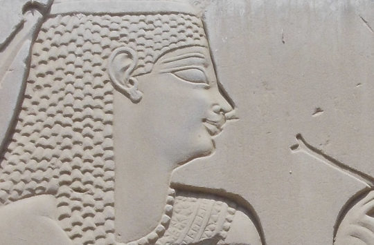 Relief of Seshat at Kom-Ombo.