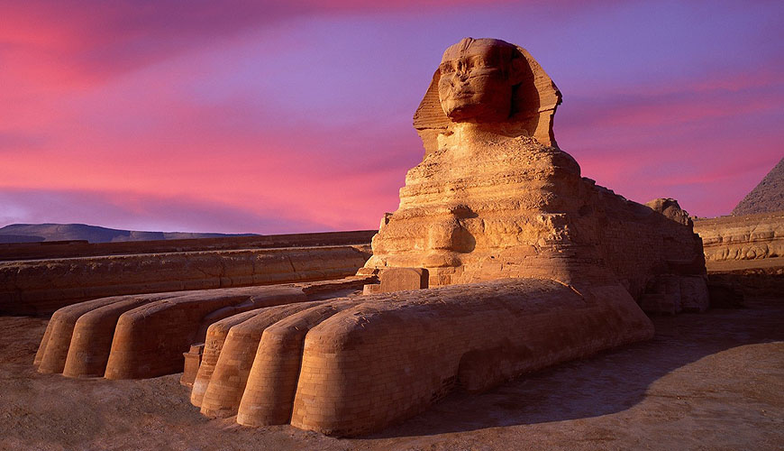 Egyptian Sphinx at Gizeh.