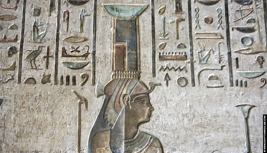 Relief of Nebet-Het from the temple of Deir el-Medina.