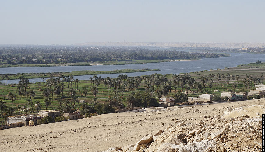 Nile River at Beni Hassan, Egypt.