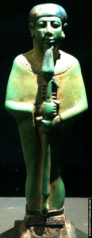 Small statue of Ptah. RMO Leiden.