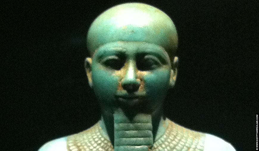 Statue of Ptah at the RMO Leiden.