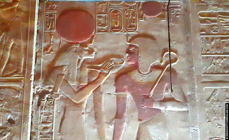 Relief of goddess Sakhmet with Seti I