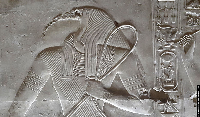 Relief of Thoth from the temple of Seti I at Abydos