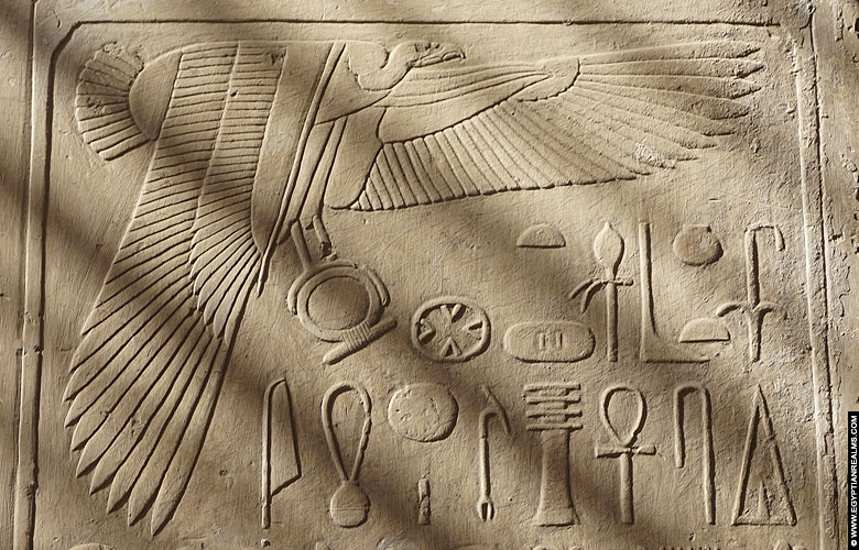 Releif of vulture Nekhebet at Abydos