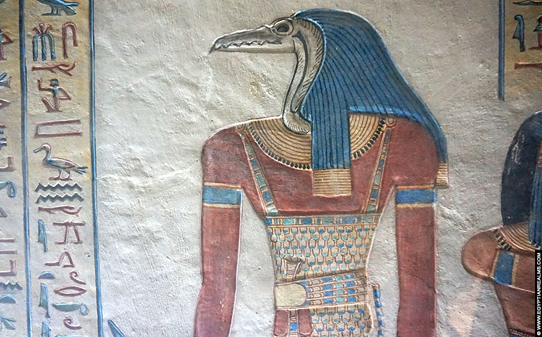 Ancient Egyptian guardian depicted in the tomb of Amen-Kopshef.