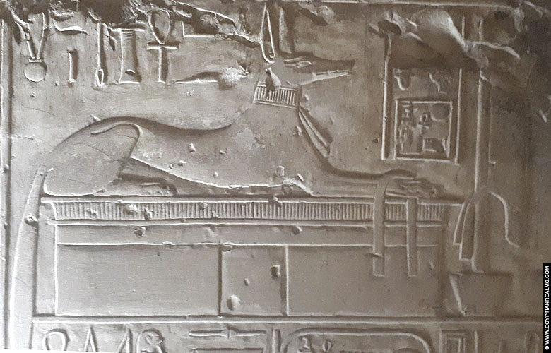 Relief of Upuaut from the temple of Seti I at Abydos