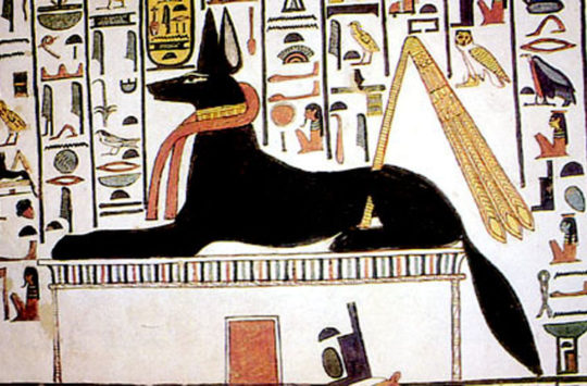 Wall painting of Upuaut from the tomb of Nefertari