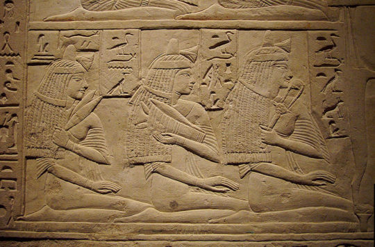 Ancient Egypian relief of woman