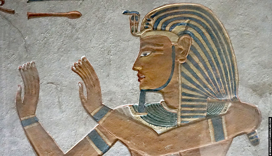 Relief of pharaoh from the tomb of Kha-m-Waset.