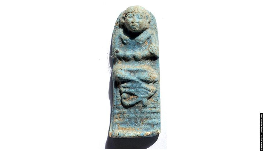 Ancient Egyptian fayence amulet.