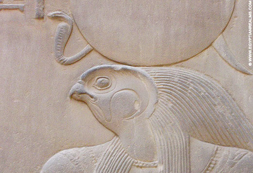 Relief of Ra from the temple of Kom-Ombo.