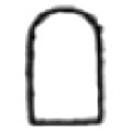 Ancient Egyptian hieroglyph of a stela.