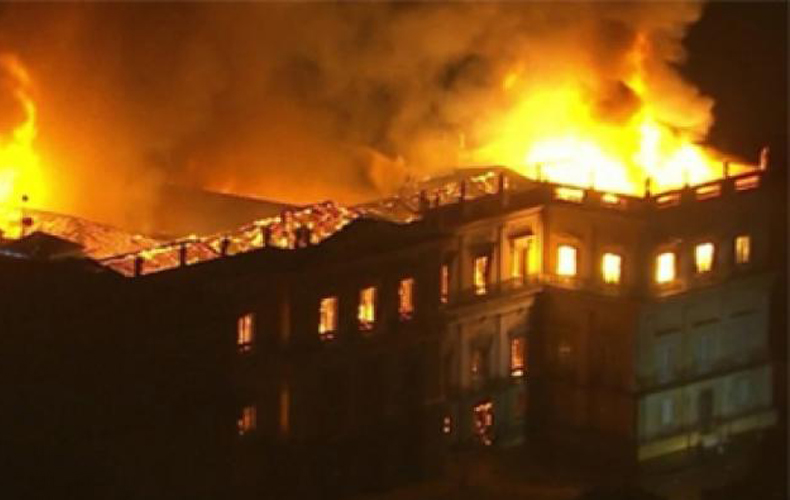 Fire in National museum Rio.