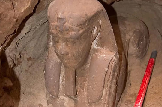 Sphinx statue found at Kom-Ombo.